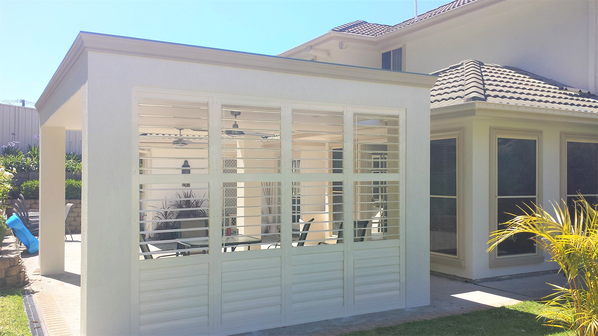 Patio Shutters - Wall Partition using Ambient Shutters